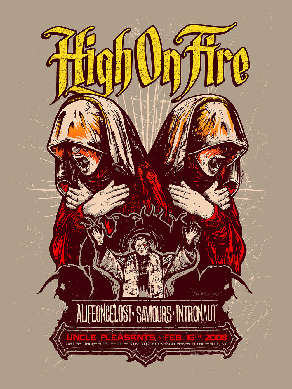 High on fire poster by Angryblue