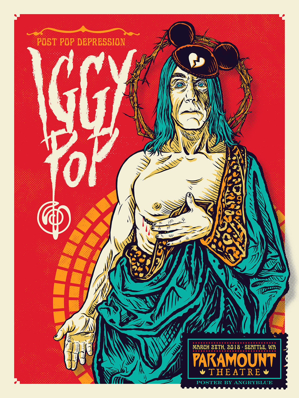 I love the idea of Saint Iggy Pop. This show was accidentally the day after Easter.