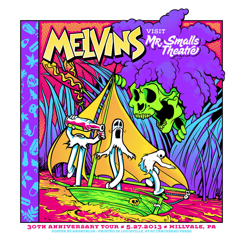 This Melvins poster is based off of a Little Golden Book and the animation from St. James Infirmary