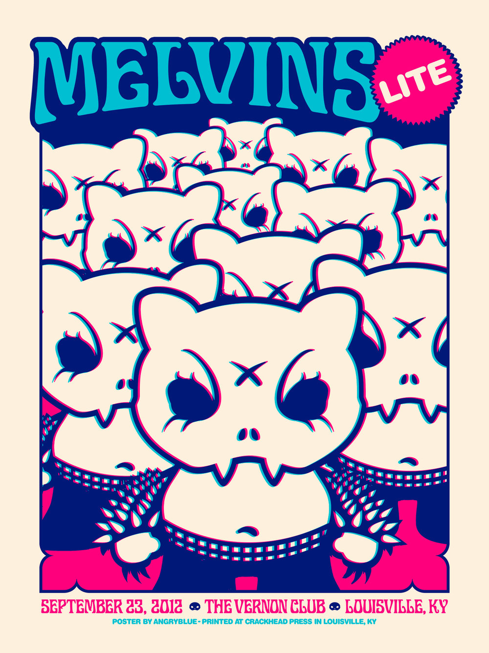 Melvins poster designed by Angryblue.