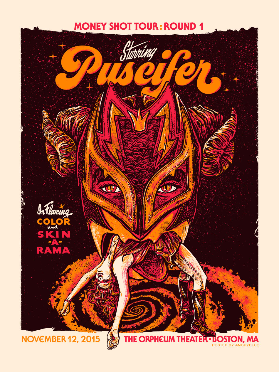 This Puscifer tour was very fun. It lad a luchador themed showcase during the live set.