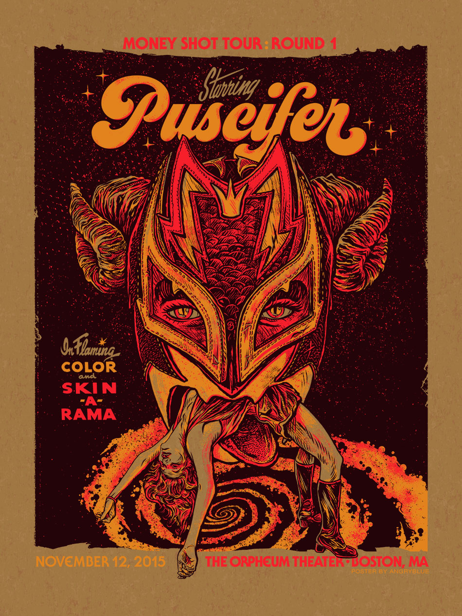 This was a variant for this Puscifer poster.