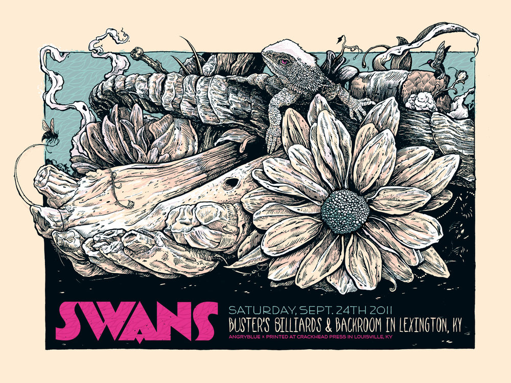 Swans poster by Angryblue