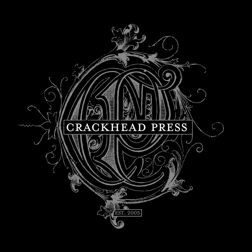 Crackhead Press was established in 2005 between  Jeral Tidwell  and Justin Kamerer/Angryblue in Louisville, KY.   Under this umbrella, we print and manufacture limited edition screen prints, books, letterpress & any little silly thing we think of.