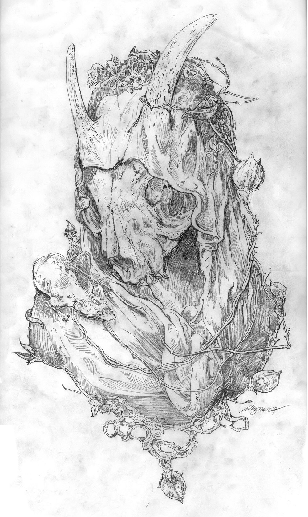 Original pencils for the Mother Earth