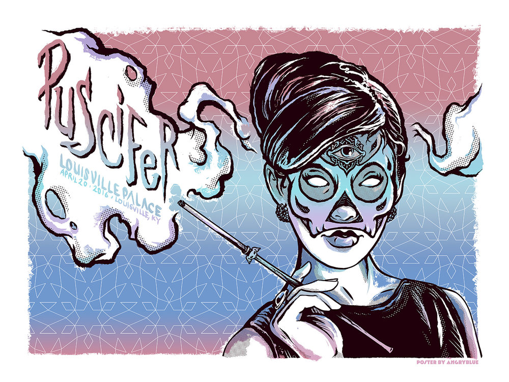 Puscifer poster for their 4/20 show in Louisville, KY.
