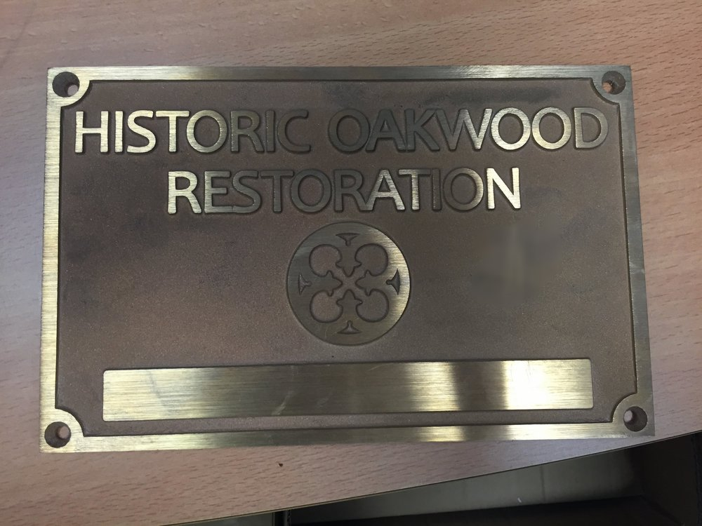 Bronze Oakwood Plaques