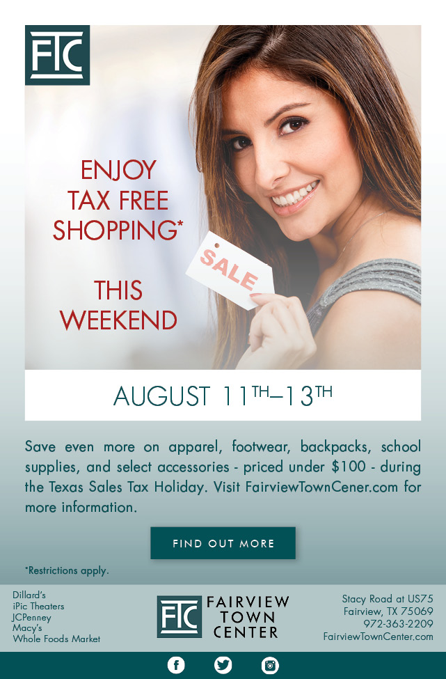 Tax Free Shopping Email Blast