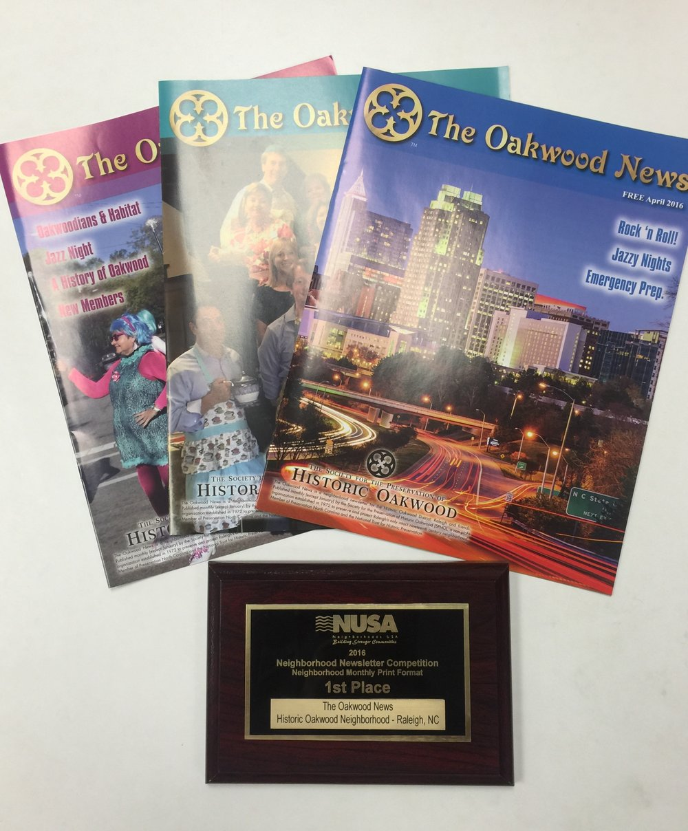 The Oakwood News NUSA Award Winner | Graphic Design by Cybergraph