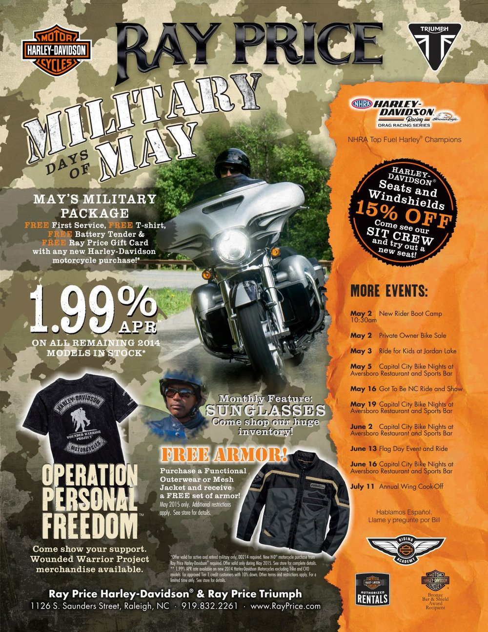 Ray Price Military Days Full Page Ad  | Graphic Design by Cybergraph