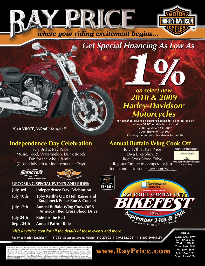 Ray Price 1% Financing Ad | Graphic Design by Cybergraph