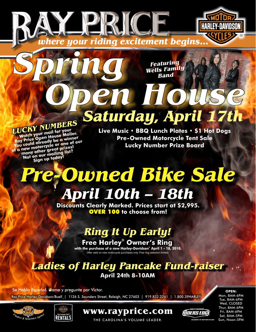 Ray Price Open House Ad  | Graphic Design by Cybergraph