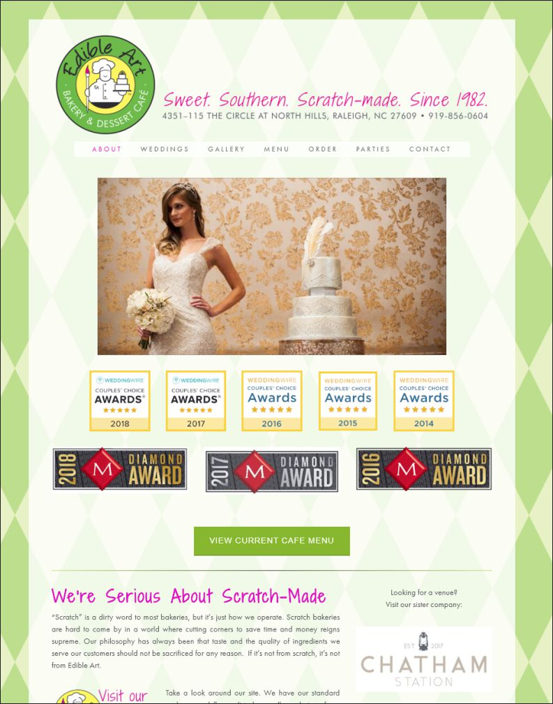 Edible Art Bakery Web Site Design 1 by Cybergraph