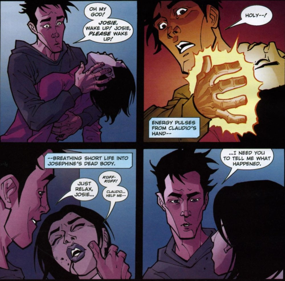 Claudio's Special Boy powers begin to awaken as Joesephine awakens from Death #1