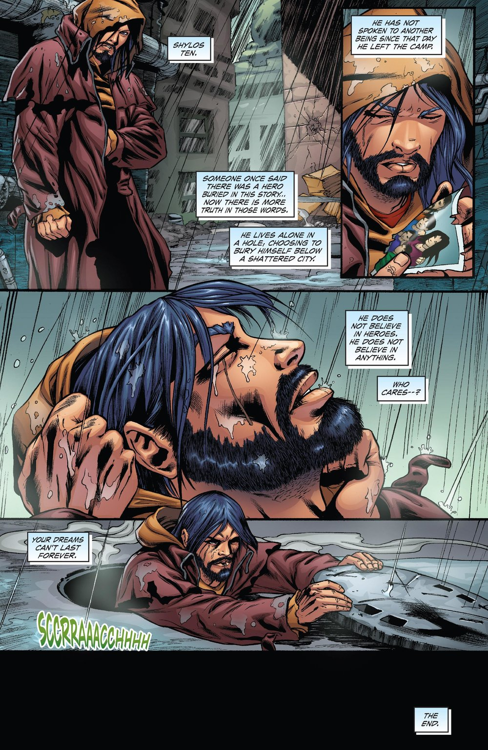 It ends with a fucking bananas final page. Claudio has not spoken to a SOUL in six years. He has completely embraced nihlism, and grown extreme facial hair. One of the panels looks like he is recieving a facial. See you fucking next time.