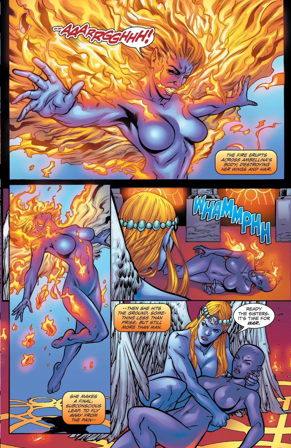 Ambellina burns her wings!