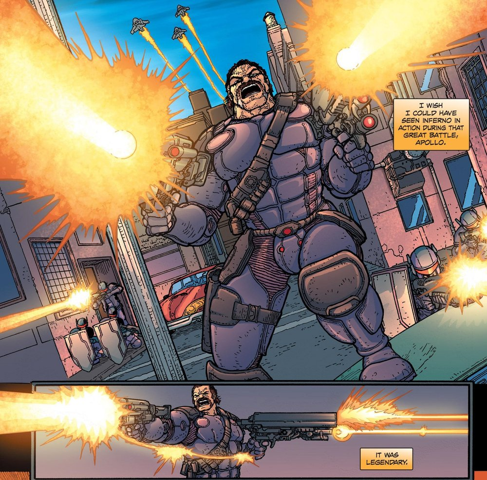 """Despite this being a 2011 release, Jesse here is seen what can only be called """"The Full Liefeld"""""""