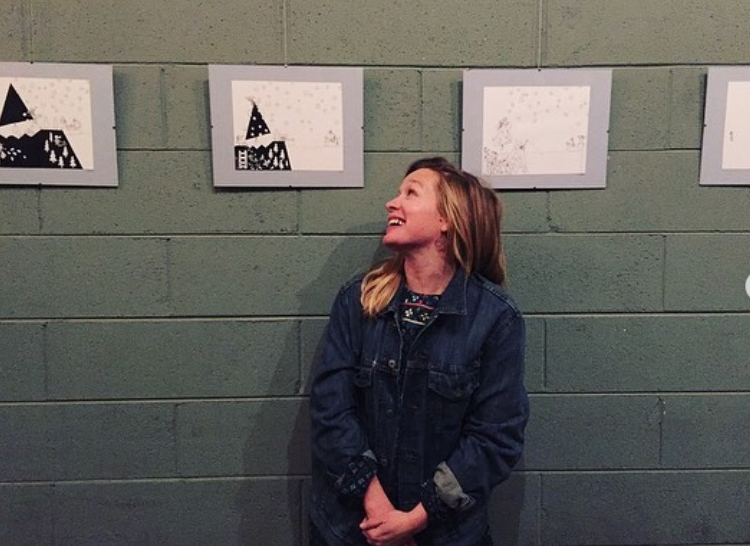 Kait Walsh with art showcase at Frogtown Brewery