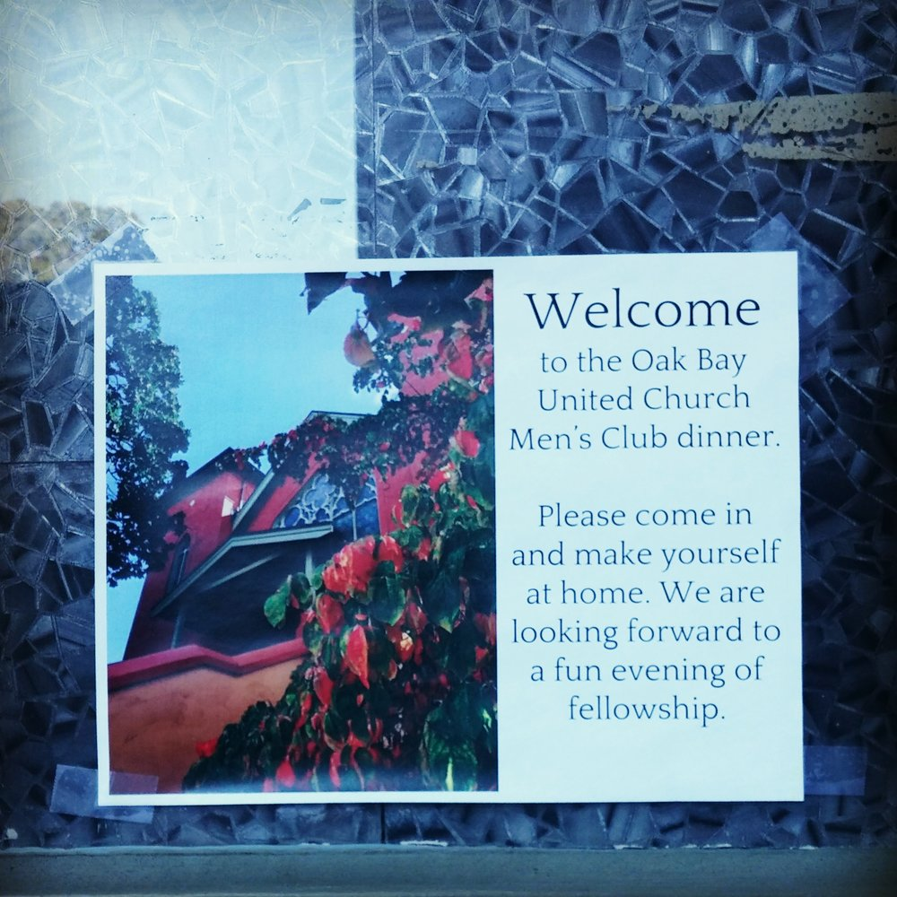 Men's Club Dinner  3rd Monday of the month, 6:30pm September to June All men are invited for regular evenings of interesting conversation, good food, and fellowship. Gathers the third Monday of the month, at 6:30 pm, $10 donations for dinner. Sign up in the Church office.
