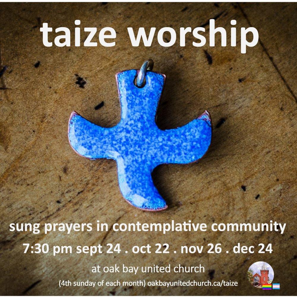 taize worship 2017 poster blue cross on wood square.jpg