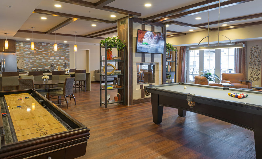 Luxury rental apartment- lounge/ game room
