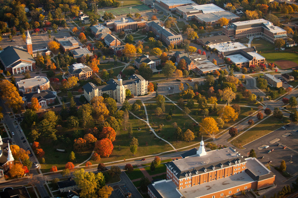 College- aerial view