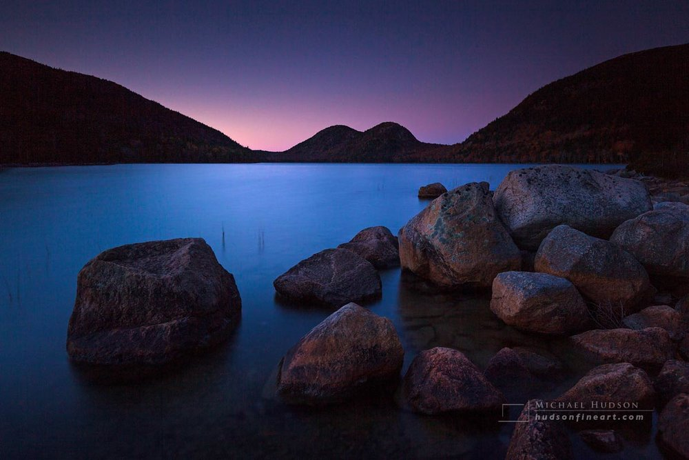 Dusk, Jordan Pond, Acadia National Park, Maine
