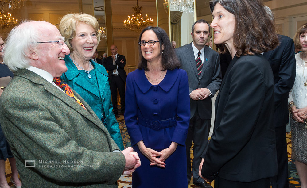 Attorney General, Lisa Madigan (in blue dress), representing Chicago politics
