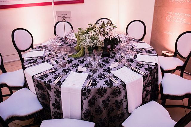 C L I E N T  D I A R I E S •  Looking back @mangopieevents 10th anniversary at @nationalportraitgallery with our #bespoke and gorgeous #BlackLace Table Cover earlier this month! Beautiful details & amazing food from @bubblefooduk • #tablescape #luxurylinen