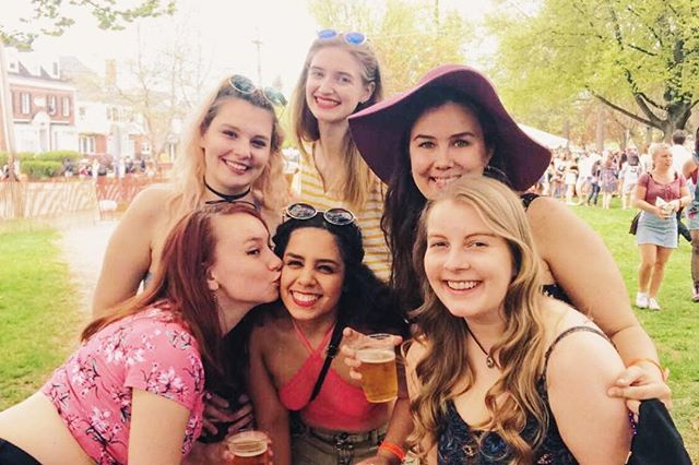 "happy mayfest from a bunch of seniors who are just trying to enjoy their youth before becoming college grads who have to live in the ""real world"""