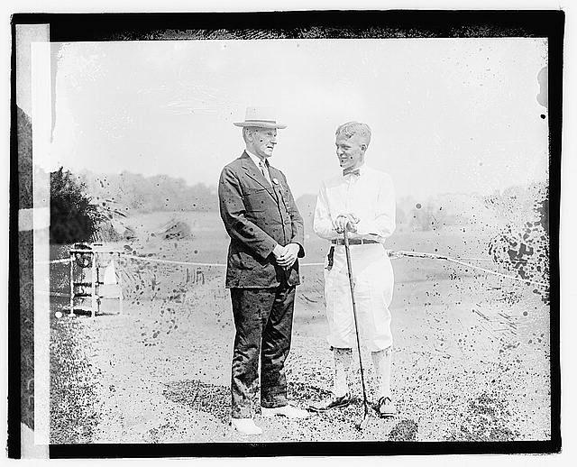 President Coolidge with Bobby Jones