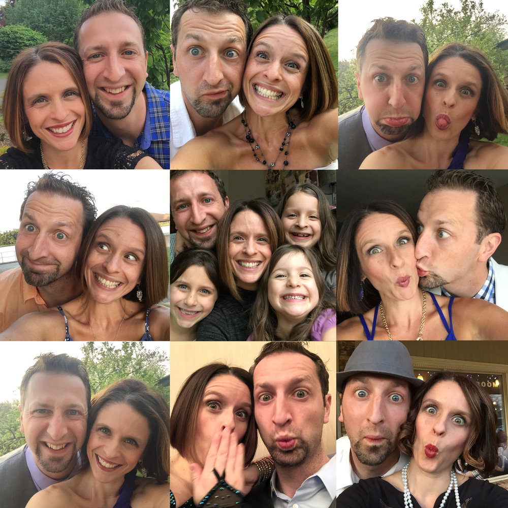 "Brian and his wife take a ""silly selfie"" before every dance event or performance!"