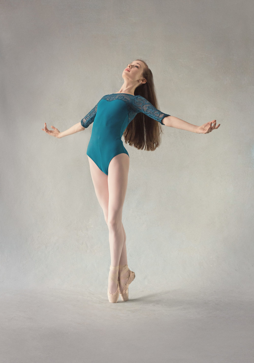 Young Dancer in Pointe Shoes