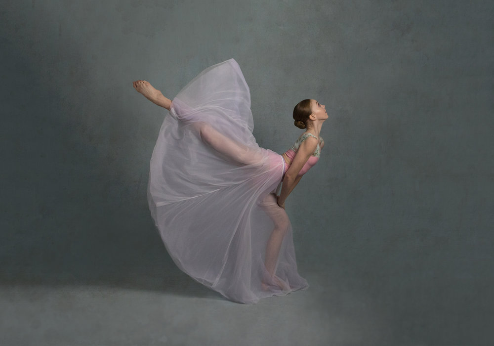 Pointe Shoe Ballerina Portrait