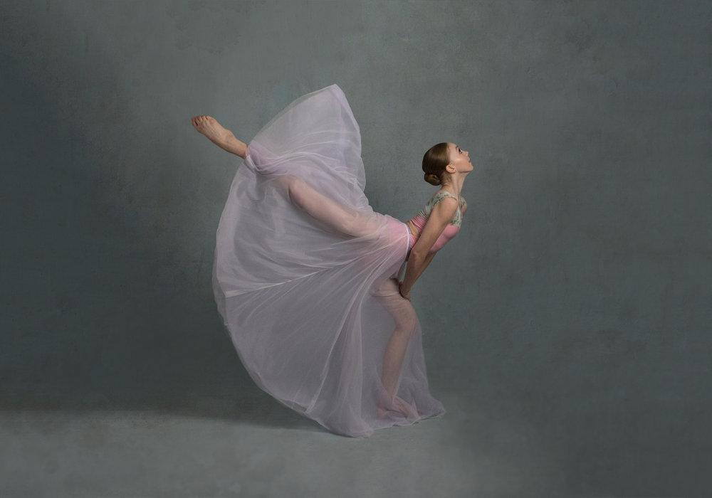 Kicking ballerina