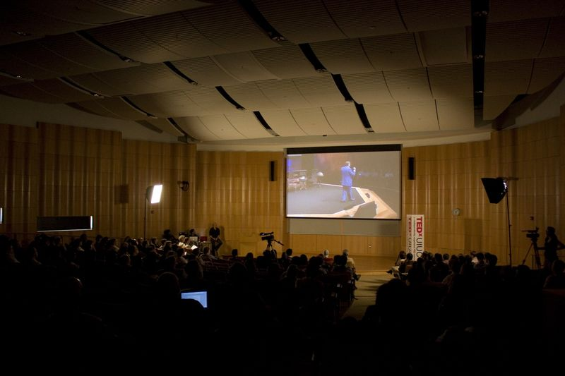 The participants watch a pre-recorded TEDTalk.