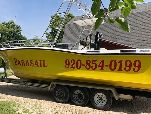 Now you will know its us when you see us around. (920) 854-0199 boats headed back to the marina shortly. Come fly with us! . . . . . #parasaildc #parasailing #parasail #parasailingtime #parasailingfun #parasailingadventures #vacationfun #vacation #fun #adventure #funthingstodo #watersports #watersportsfun #beach #parasailors #doorcounty #sisterbay #sisterbayDoorCo #sisterbaywisconsin #doorcountywisconsin #sisterbaymarina #parasailingparadise #parasailingday #photooftheday #familyfun #familyvacation #parasaildc #travelwisconsin #explorethedoor #discoverwisconsin
