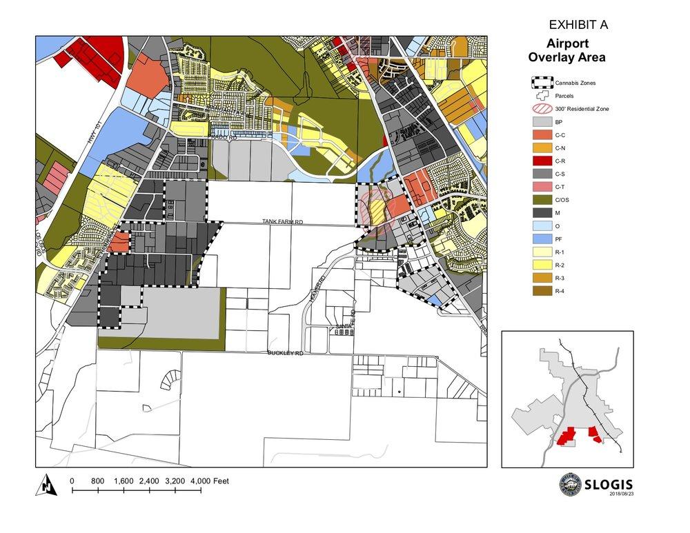"""San Luis Obispo """"Green Zone"""" Map"""