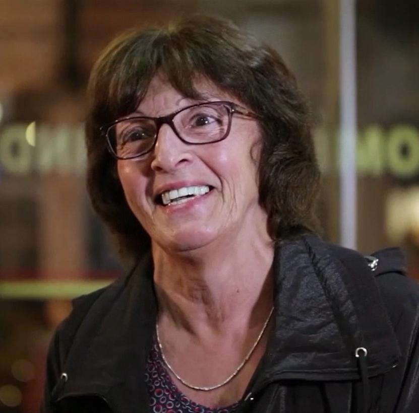 """""""Yo estoy en edad de jubilarme y pensaba jubilarme y no hacer nada pero ahora me dieron ganas de ponerme a trabajar.""""   Alicia Delgado"""