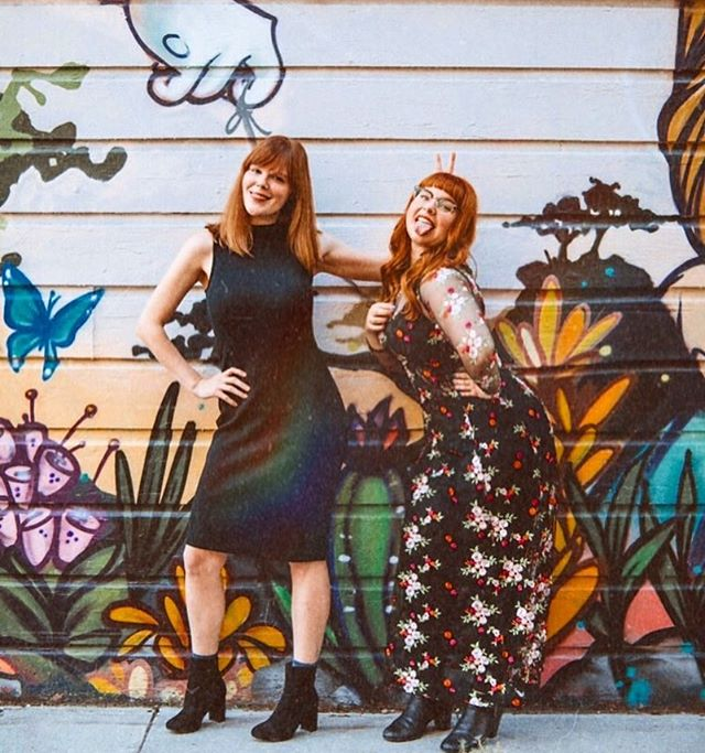 be petty but make it fashion . . . 📸 @juliaotest . . . #redhead #comedian #comedy #bestfriends #losangeles #la #photodaily #laactor #lacomedy #floral #spring #fashion #streetstyle #streetart #sanfrancisco #sf #vintage #newretro #bunnyears #tongue #bffsforever #redhair #beauties #realgirls #dreamteam #comedyduo