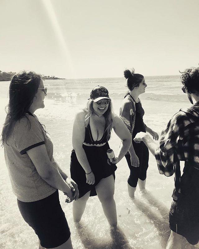 help I've been kidnapped . . . 📸 @thelovelywise . . . #california #composition #photooftheday #birthdaytrip #sandiego #lajolla #bffs #beach #sunbeam #sunshine #blackandwhite #instablackandwhite #light #joy #friendship #crew #gang #fam #beachbody #everybodyisflawless #selflove #selfcare #thisis34 #curvy #instabeauty #nature #universe #love #pacificocean