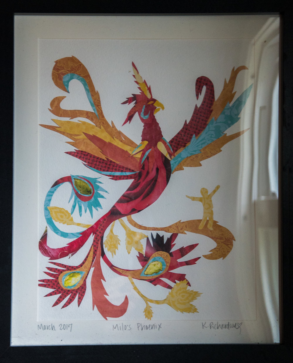 "Original cutout artwork: ""Milo's Phoenix"" by Kara Richardson"