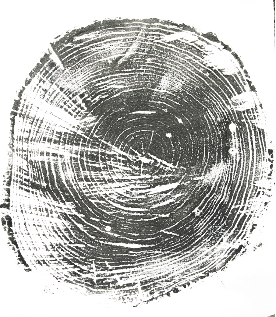 "Printed tree rings, ""Bennington."""