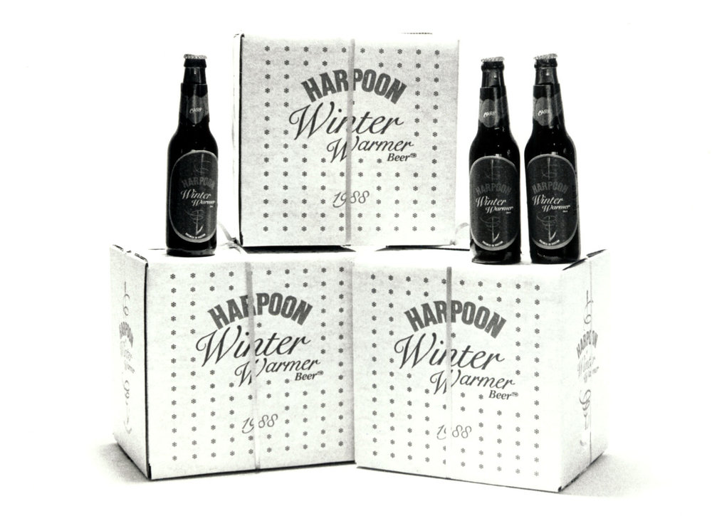 "Harpoon ""Winter Warmer"" packaging from 1988. Photo courtesy of Harpoon Brewery."