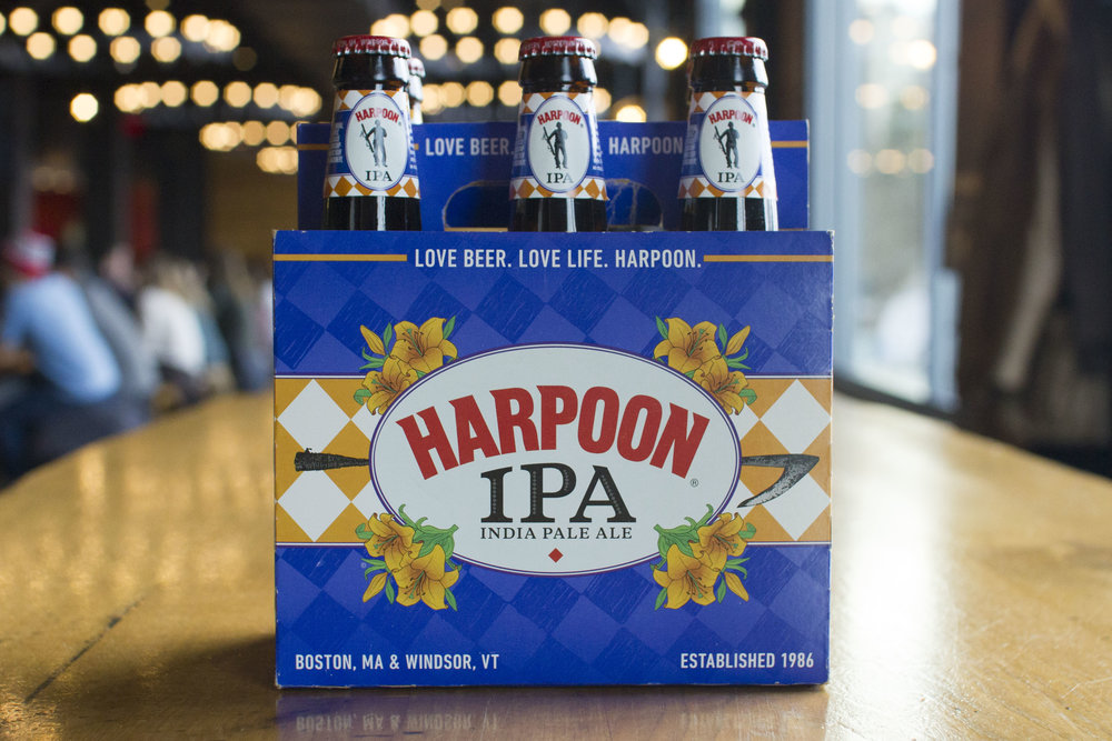 "Harpoon ""IPA"" packaging, 2013. Photo courtesy of Harpoon Brewery."