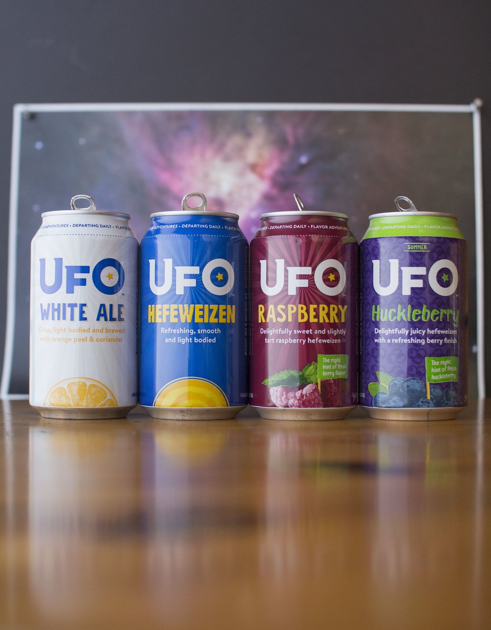 Rebranded can packaging, UFO beer, 2017. Photo courtesy of Harpoon Brewery.