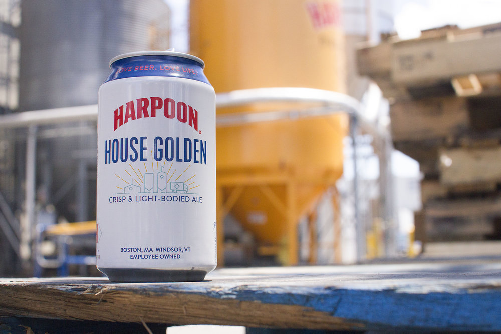 "Harpoon ""House Golden"" packaging, 2017. Photo courtesy of Harpoon Brewery."