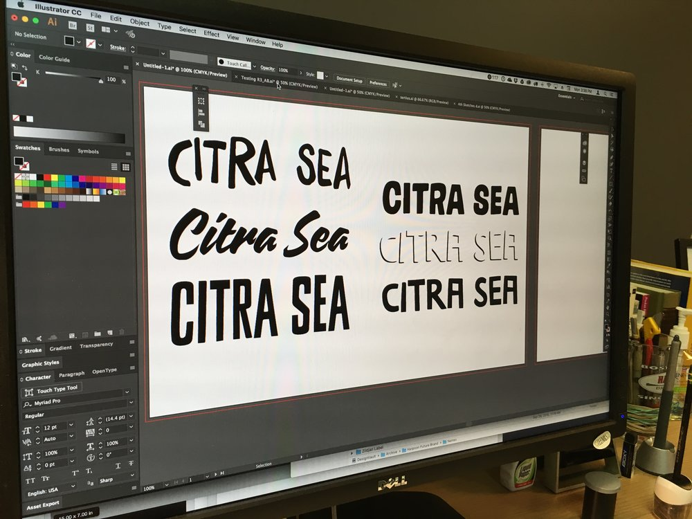 "Font exploration, Harpoon ""Citra Sea."" Photo courtesy of Harpoon Brewery."