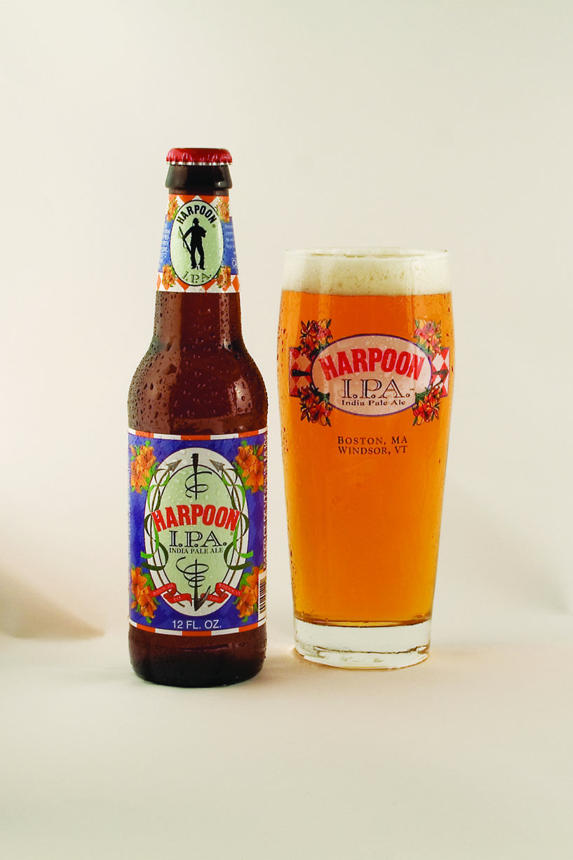"Harpoon ""IPA"" packaging, 2006. Photo courtesy of Harpoon Brewery."