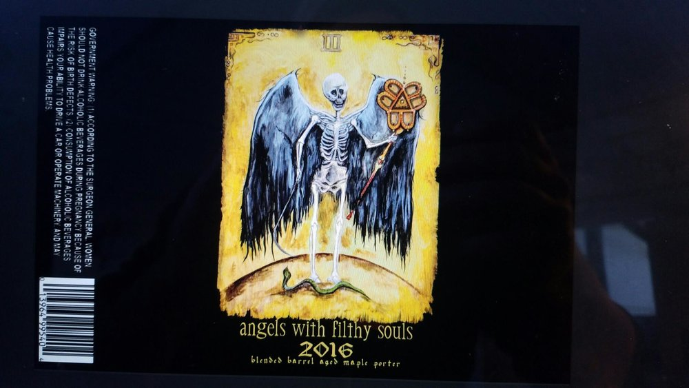 "Bissell Brothers ""Angels With Filthy Souls 2016"" label design"